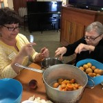 Marsha and Jan making jam!