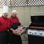 Chef JoJo and Jose hard at work at the grill.