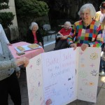 Donna and Barbara held up the sign for a while and gathered perspective buyers for the bake sale. They did a great job!