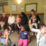 Activities with residents and kids together.