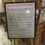 National Assisted Living Week is this week and we have a week of fun activities. The theme this year is Family Forever.