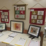 Each art piece was numbered and the bids were next to each piece.