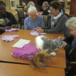 Many heart pillows have been made and the residents love to hold them on their laps!