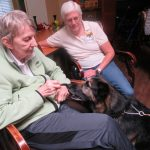 Maureen with Heidi have a great connection. Maureen and Carol have had German Shepard's for a long time and just love how smart they really are.