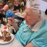 Charlene's first time at Fentons and she ordered a black and tan sundae.