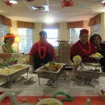 Buffet and the cooks of the Lakeside kitchen.