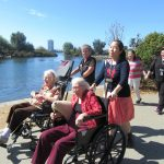 Caitlin, Tracy, Charlene and Shirley enjoy time at our beautiful Lake Merritt.