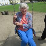 Barbara really enjoyed her time on the swings!