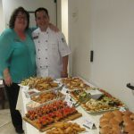 Of course it wouldn't be a party without the spread that JoJo puts out. Anne and JoJo historically posing for a photo.