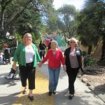 Katherine, Teresa, and Cheryl walking down the Browne cow path.