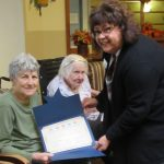 Mary was very proud to serve her country and honored to receive her certificate of appreciation.