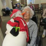 Sheila and her snowman she named Charlie.