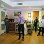 Pat Caffrey (Regional Director of Dining Services) graced us with his yoyo skills. He mesmerized everyone at Mila's going away party and added an extra special element to the day.