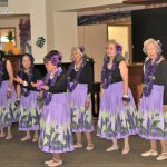 Wahine U'i Hula dancers entertaining our audience. Amy the dancer in the middle is 94 years young!!